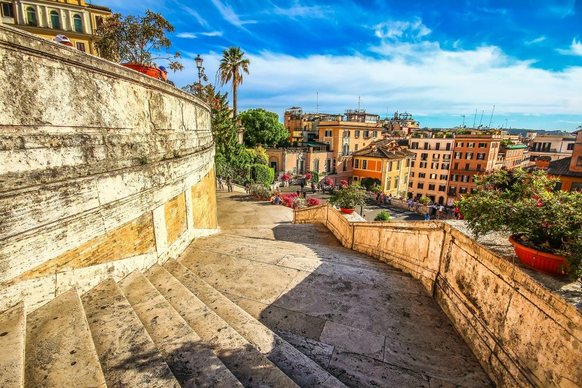Róma: a Spanyol-lépcső és a Piazza di Spagna