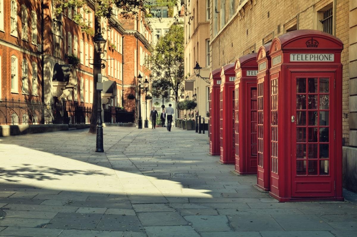 London: telefonfülkék
